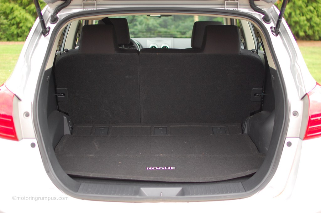 2008 Nissan Rogue Cargo Space