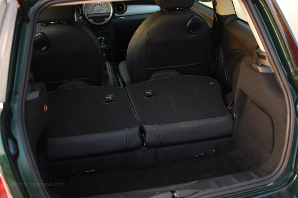 2012 Mini Cooper Hardtop Seats Folded