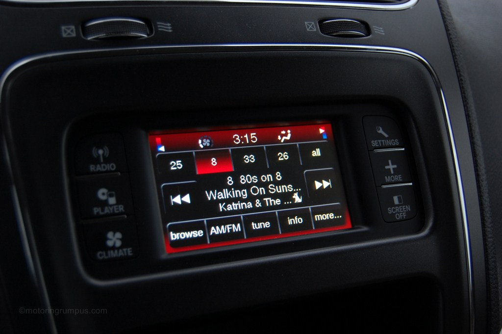 2012 Dodge Journey UConnect 4.3-inch Touchscreen