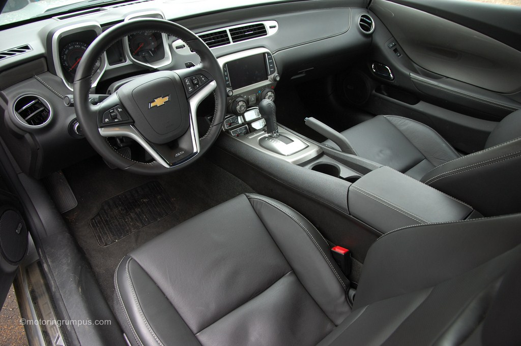 2014 Chevy Camaro Black Leather Interior