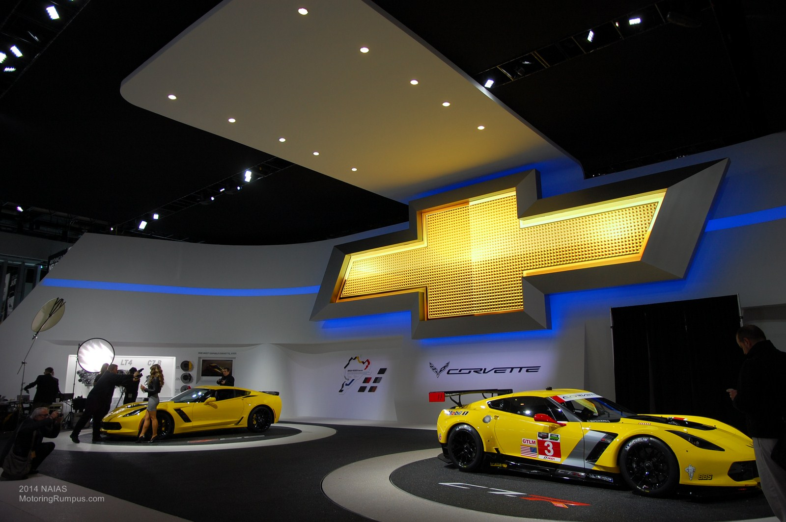 2014 NAIAS Chevy Corvettes Yellow